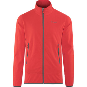 Bergans Lovund Fleece Jacket Herr fire red/solid dark grey